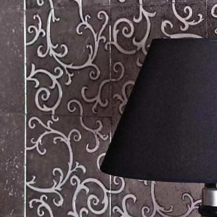 FANTESY | cm 30,5 x 30,5 - Decor Semibianco - Background Silver