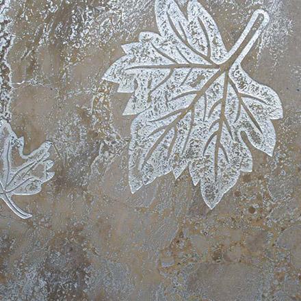 FOGLIA | cm 30,5 x 30,5 - Decor Mocca - Background Silver