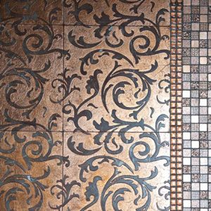 THIRA | cm 30,5 x 30,5 - Decor Bordeaux - Background Copper