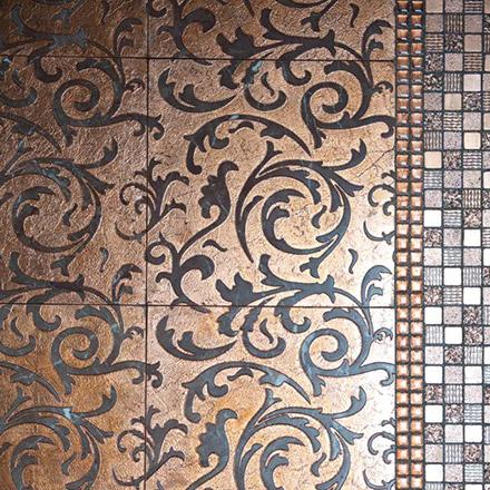 THIRA | cm 30,5 x 30,5 - Decor Bordeaux - Background Copper