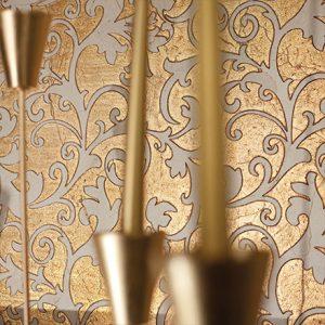 ALISE | cm 30 x 60 - Decor Crema Marfil - Background Gold