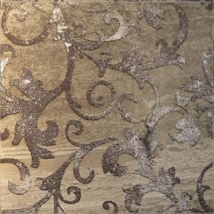 ALISE cm 30,5 x 30,5 Decor Silver - Brown Background Moving Sand