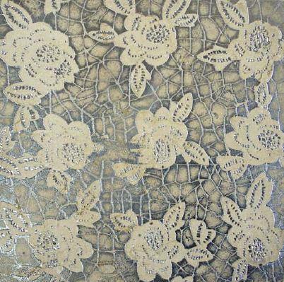 DANDEL | cm 30,5 x 30,5 - Decor Sand - Background Silver