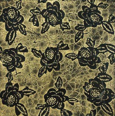 DANDEL | cm 30,5 x 30,5 - Decor Aquanero - Background Gold