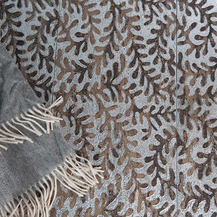 FYLO | cm 30,5 x 61 - Decor Twin Brown - Background Silver