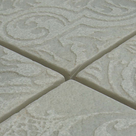 MEDA LN Mosaic cm 15 x 15 Marble: Semibianco