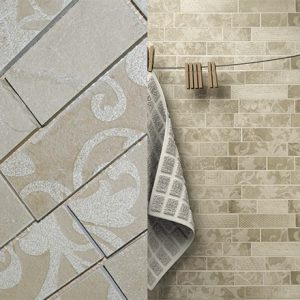 KA LN - 1020 Mosaic cm 5 x10 / 5 x 20 Marble: Tortora