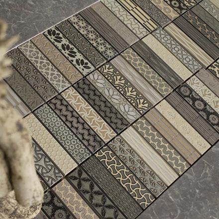 CPL | 2510 - GREY Mosaic cm 2,3 x 10