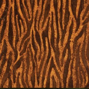 TIGRE | 30,5 x 61 - Decor Marrone - Background Gold