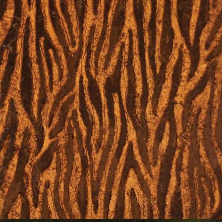 TIGRE | 30,5 x 61 - Decor Marrone - Background Gold