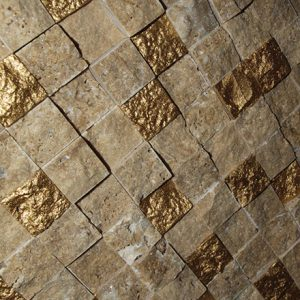 SFG 0204 Mosaic cm 2,2 x 2,2 Marble Travertino
