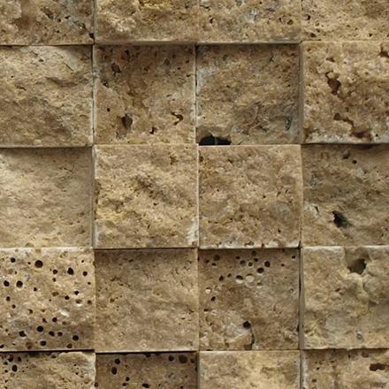 SF 0204 Mosaic cm 2,2 x 2,2 Marble Travertino